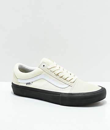 Vans Old Skool Pro Classic White & Black Skate Shoes