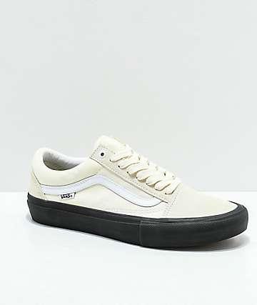 Vans Old Skool Pro Classic zapatos de skate en blanco y negro