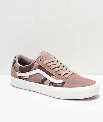 75e4d7cd1fe Vans Old Skool Pro Desert Camo Skate Shoes