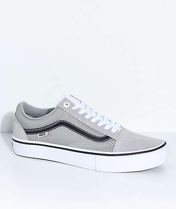 Vans Old Skool Pro Drizzle Grey Skate Shoes