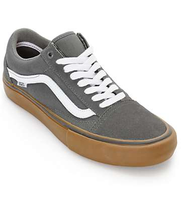 Vans Old Skool Pro Grey, White & Gum Skate Shoes
