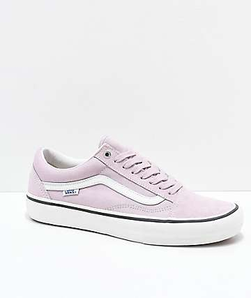 Vans Old Skool Pro Violet Ice & White Skate Shoes