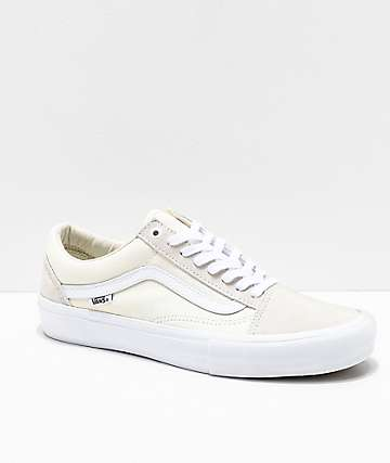 Vans Old Skool Pro White Skate Shoes