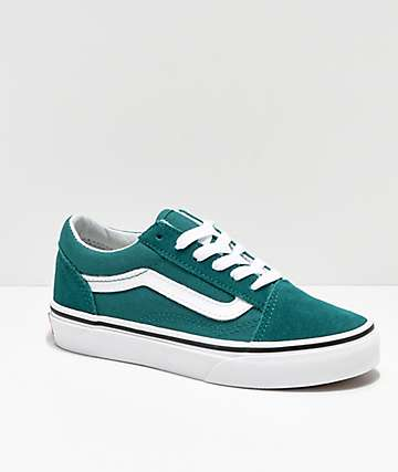 Vans Old Skool Quetzal Green & White Skate Shoes