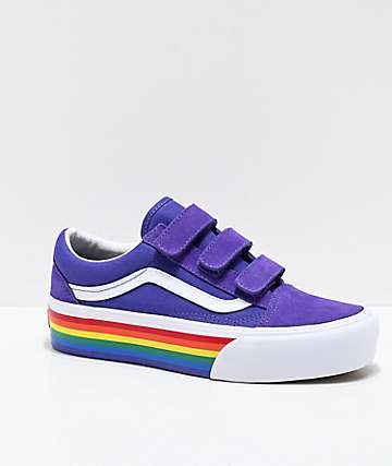 Vans Old Skool Rainbow Platform Shoes