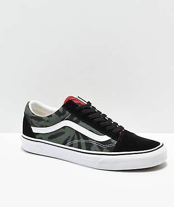 8044d3b705eb Vans Old Skool Rasta Tie Dye Skate Shoes