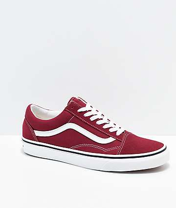 94357d91eb Vans Old Skool Rumba Red & White Skate Shoes