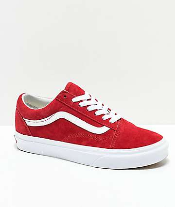 fc4a6043c1 Vans Old Skool Scooter Red   True White Shoes