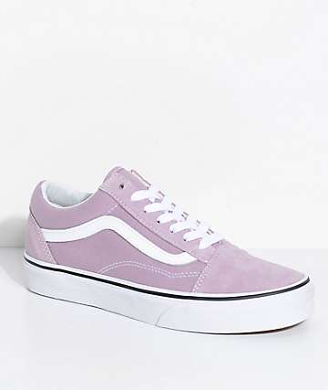 Vans Old Skool Sea Fog & True White Skate Shoes