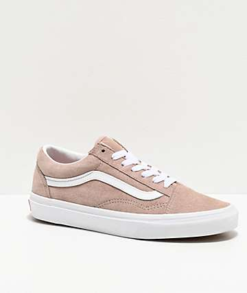 Vans Old Skool Shadow Gray & White Pig Suede Skate Shoes