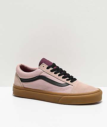 Vans Old Skool Shadow Grey & Prune Skate Shoes