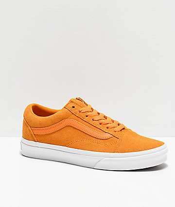 Vans Old Skool Soft Suede Zinnia Yellow Skate Shoes