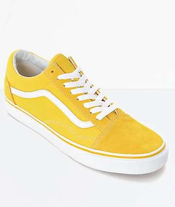 Vans Old Skool Spectra zapatos de skate en amarillo y blanco