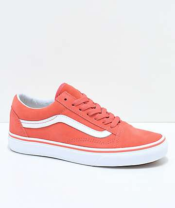 Vans Old Skool Spiced Coral & True White Suede Shoes