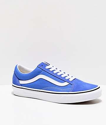 Vans Old Skool Ultramarine & White Skate Shoes