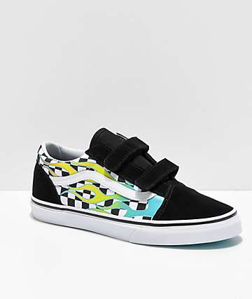 e1ab4f4255747c Vans Old Skool V Surf Flames Skate Shoes