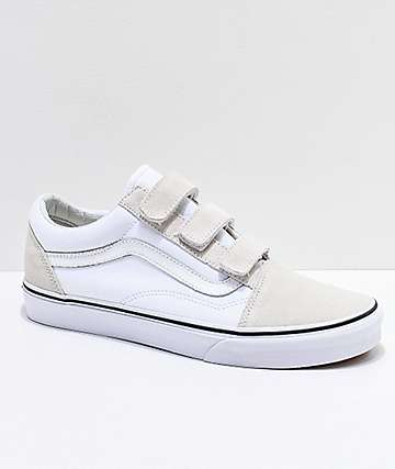 Vans Old Skool V True White Skate Shoes