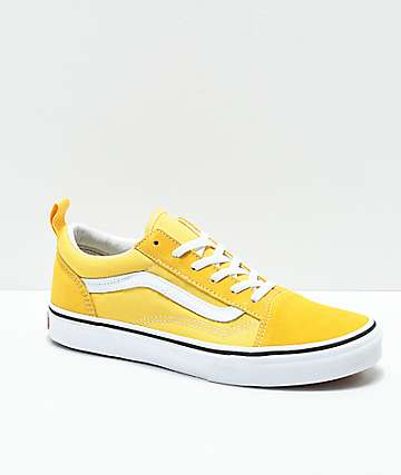 Vans Old Skool Yellow & True White Skate Shoes