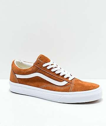 Vans Old Skool zapatos de skate de ante marrón de cerdo
