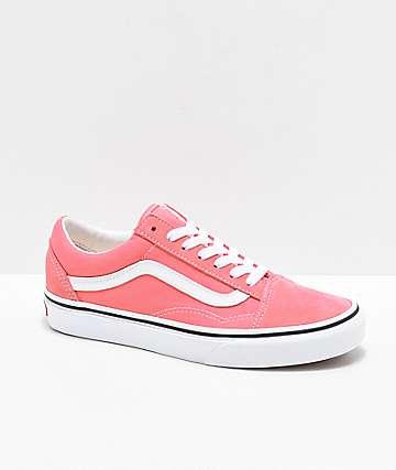3fe724b43 Vans Old Skool zapatos de skate de color fresa