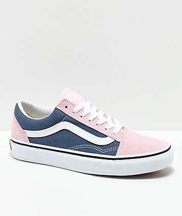 Vans Old Skool zapatos de skate en añil y rosa