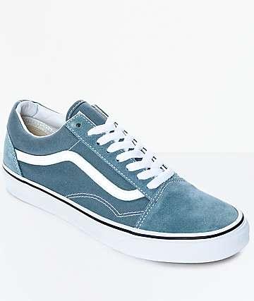 Vans Old Skool zapatos de skate en azul y blanco