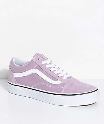 Vans Old Skool zapatos de skate en blanco y morado pastel