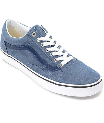 Vans Old Skool zapatos de skate en chambray azul