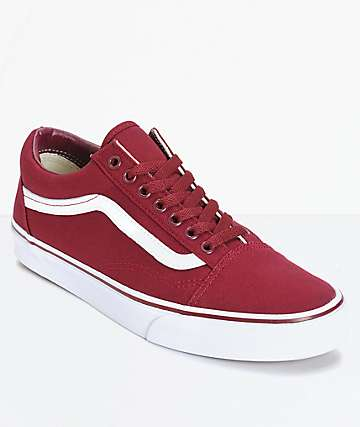 Vans Old Skool zapatos de skate en color granate
