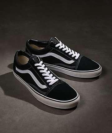 Vans Old Skool zapatos de skate negros y blancos 6ffe5e0af1c