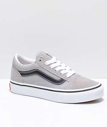 Vans Old Skool zapatos en gris y negro para niños