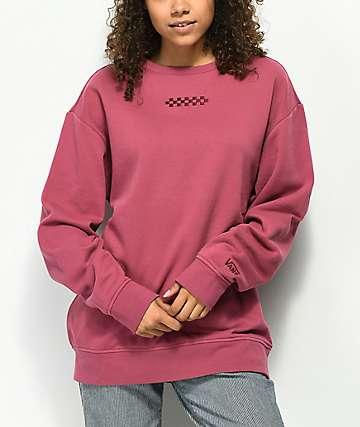 Vans Overtime Dry Rose Crew Neck Sweatshirt