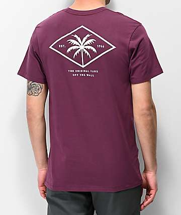 Vans Palm Diamond Burgundy T-Shirt