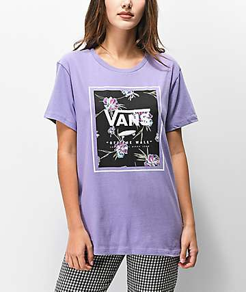 Vans Paradise Floral Box Daybreak Purple T-Shirt
