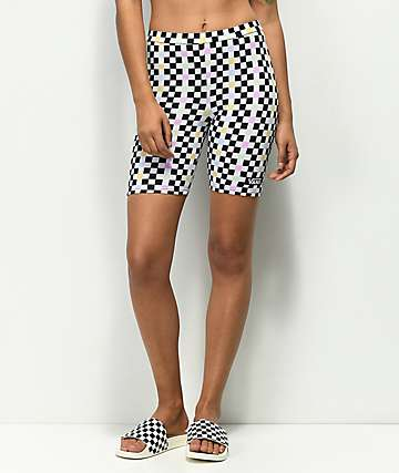 Vans Party Checkerboard Bike Shorts