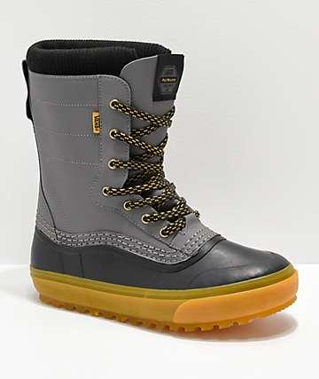 Vans Pat Moore Grey & Black Standard Snow Boots
