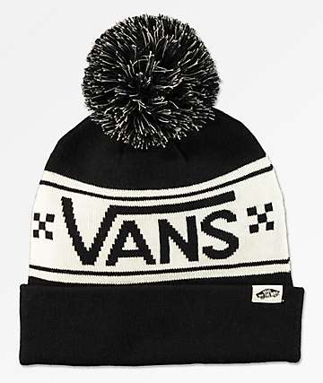 Vans Pep Rally Black & White Pom Beanie