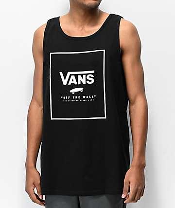 Vans Print Box Black & White Tank Top