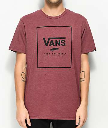 Vans Print Box Burgundy T-Shirt