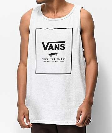 Vans Print Box Heather Grey & Black Tank Top