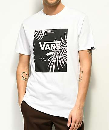 Vans Print Box Leaf White T-Shirt