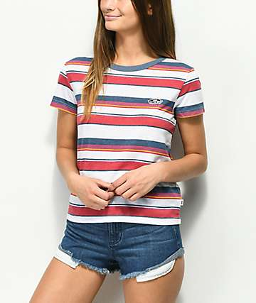 Vans Promise Ring Crimson Stripe T-Shirt