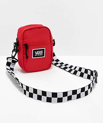 Vans Racing bolso de hombro rojo