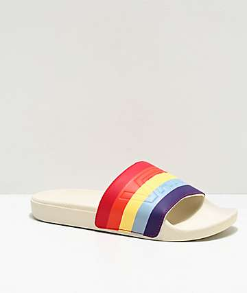 Vans Rad Rainbow Marshmallow Slide Sandals