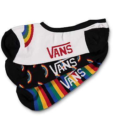 Vans Rainbow 3 pack calcetines invisibles