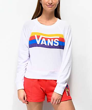 Vans Rainbow Whisper Crop Crew Neck Sweatshirt