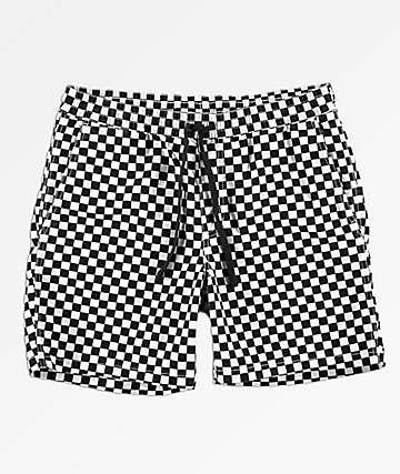 Vans Range Checkerboard Black & White Shorts
