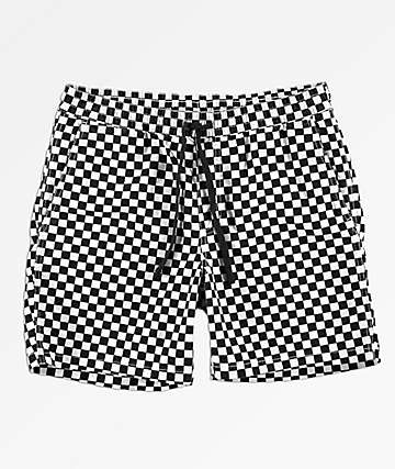 ccaa302b9f Vans Range Checkerboard Black   White Shorts