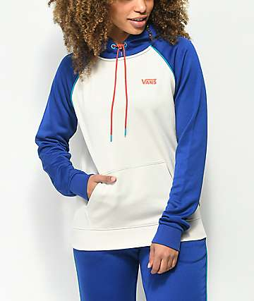 Vans Ranger Ultra White & Blue Tech Fleece Hoodie