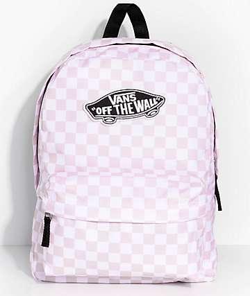 Vans Realm 22L mochila rosa a cuadros